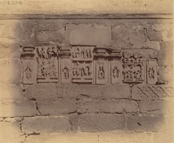 Sculpture panels set into wall of Ayeshvara Temple, Sinnar